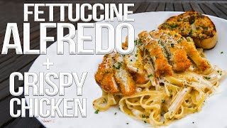 Download lagu The Best Fettuccine Alfredo with Chicken | SAM THE COOKING GUY 4K