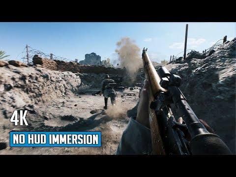 Battlefield V - No HUD Immersion Gameplay - Hamada Map (4K)