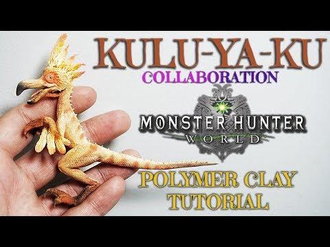 Monster Hunter World - Kulu Ya ku - Polymer Clay Tutorial - Collaboration with NERDECRAFTER