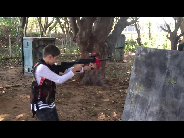 Kids Playing SWAT Lasertag in Durban North