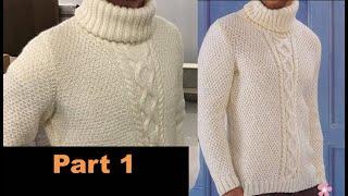 Полное руководство как связать мужской свитер на заказ  Часть 1