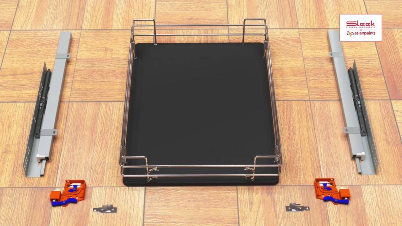 Sleek Undermount Channel for Solid Base Basket Installation - YouTube