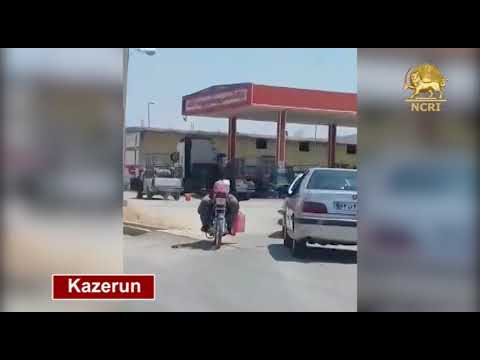 IRAN, May 23, 2018.Congestion in gas stations and shortage of fuel after the strike by truck owners