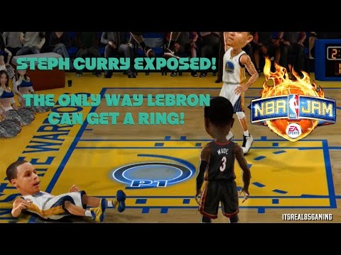 STEPH CURRY EXPOSED, Lebron Vs. Steph Curry (NBA JAM) Gameplay