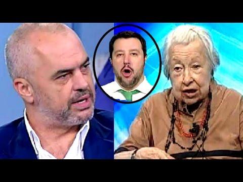Edi Rama e la Menapace umiliano Salvini : venga giù dal pero