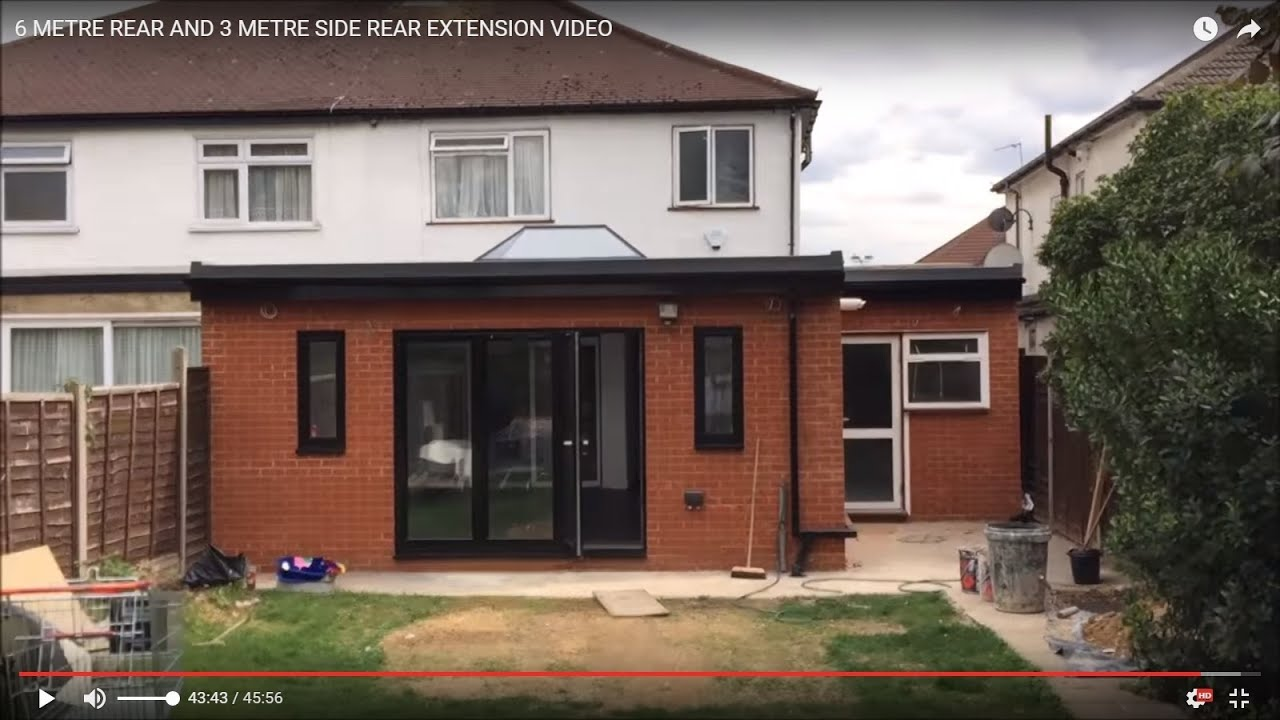 How To 6 Metre Rear And 3 Metre Side Rear Extension
