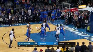 Steven Adams throws a TOUCHDOWN PASS to Dennis Schroder to tie the GAME & Force O.T vs Timberwolves!