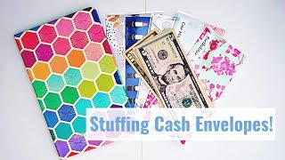 stuffing cash my cash envelopes debtfreejourney