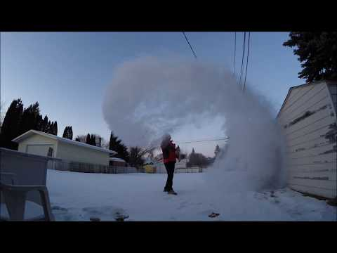 Boiling water freezes in the mid-air temperature at -35 celcius in Canada, Empemba effect