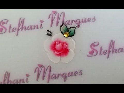 Adesivo De Unha Flor Mexicana Passo A Passo Youtube