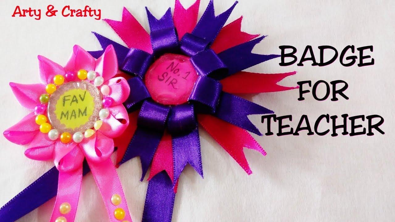 DIY 2 Badge for teachers /Perfect Teachers Day Gift Idea/Badge for  Teachers/Badge Making