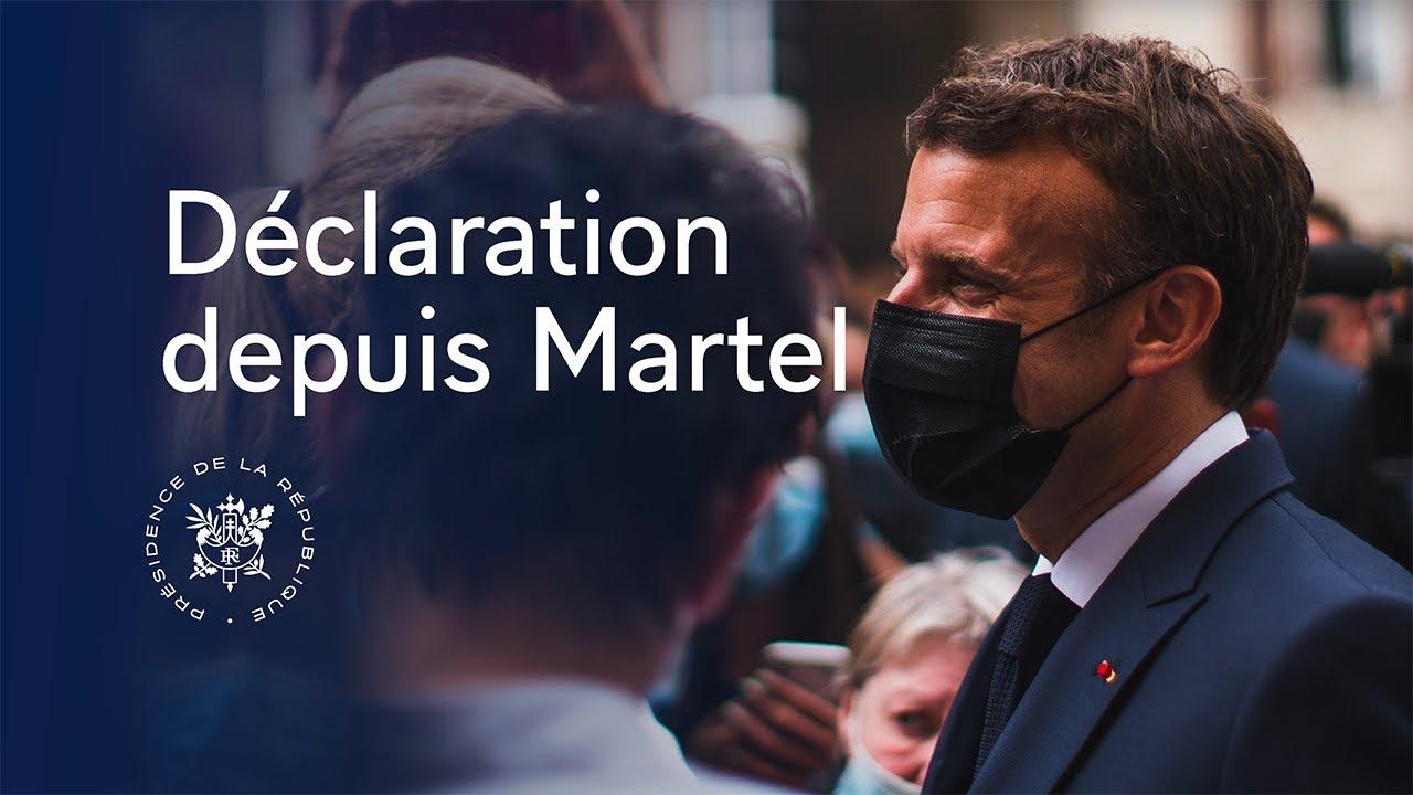 Download Déclaration du Président Emmanuel Macron depuis le village de Martel dans le Lot.
