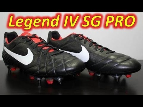 cheap for discount 63f4f 32cb5 Nike Tiempo Legend IV SG-Pro Black/Challenge Red/Metallic Grey - UNBOXING