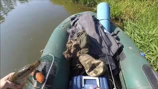 Сплав по речке Рыбалка щука и окунь на реке Дубна