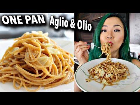 ONE PAN AGLIO E OLIO (garlic & Oil) EASY VEGAN RECIPE // Cook With Me