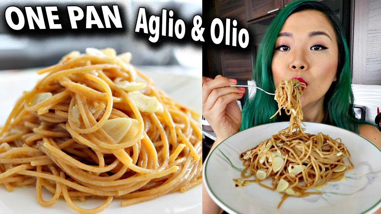 ONE PAN AGLIO E OLIO (garlic & oil) EASY VEGAN RECIPE // Cook With Me