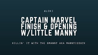 Cap Marvel Finish, Opening w/Little Manny Stream | Marvel Contest of Champions