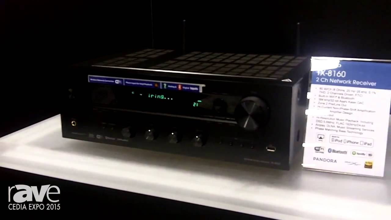 onkyo bluetooth receiver. cedia 2015: onkyo shows tx-8160, a two channel networking receiver with bluetooth, wi-fi \u0026 airplay - youtube bluetooth i