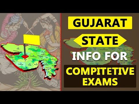 Gujarat State Information Details for Competitive Exams | GK | Quiz | Indian States Info 08