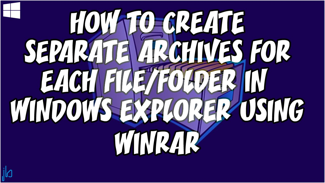 How to Create Separate Archives for each Folder or File using WinRAR