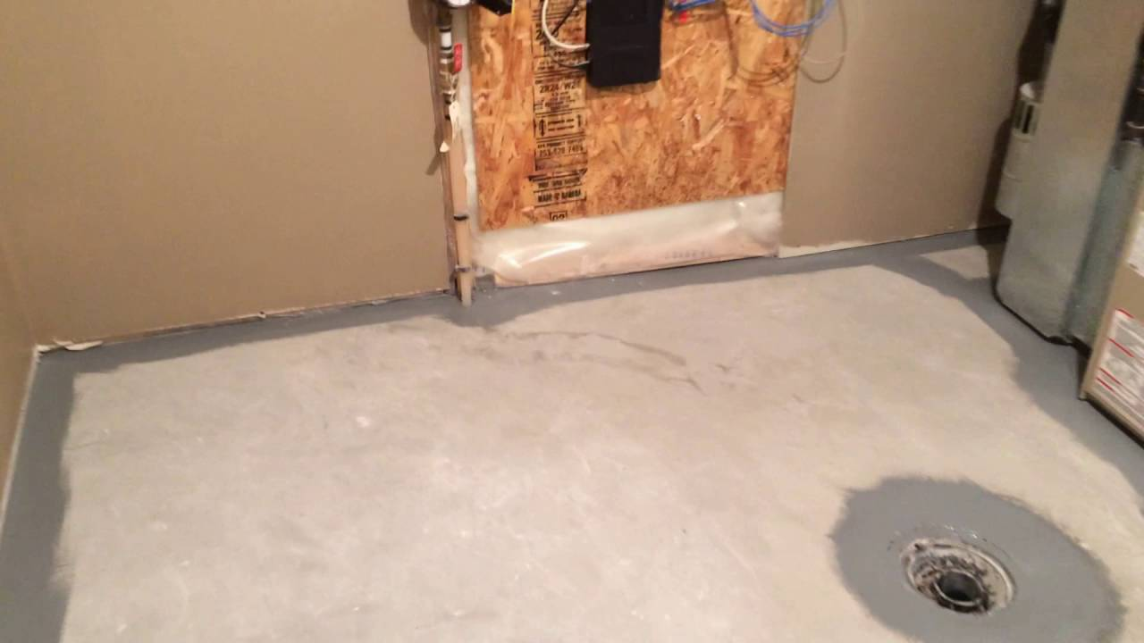 Basement Concrete Floor Painting Youtube
