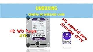 Unboxing HD Western WD Purple 2TB WD20PURZ [HD para DVR e NVR] | Geekmedia