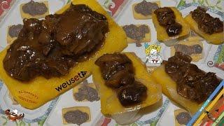 359 - Scagliozzi (polenta fritta) con funghi misti, con e senza lardo..e ti senti gagliardo!