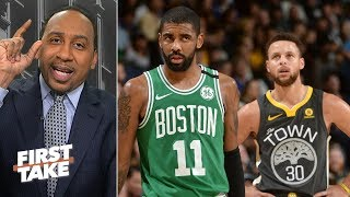Stephen A. not giving up on Celtics vs. Warriors Finals | First Take