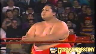 WWF FIRST RAW(1/11/1993)Yokozuna Vs Koko B Ware