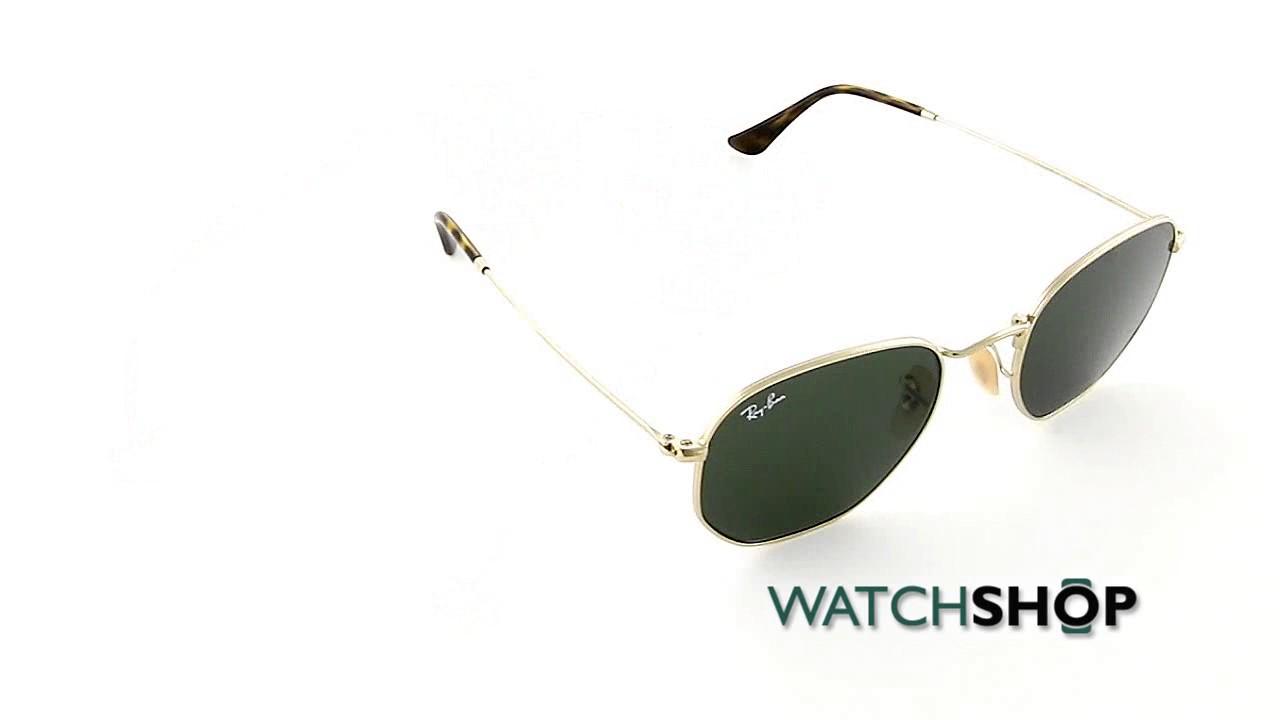 Ray-Ban Men s Hexagonal Flat Lens Sunglasses (RB3548N-001-51) - YouTube 697b1d550d