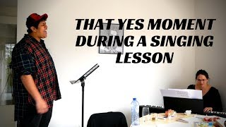 A few YES-moments with singing student Jubayru