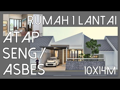 Rumah atap Seng / Gelombang dengan 3 kamar tidur