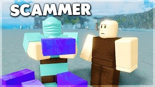 I Met A SCAMMER And This Is What Happened... Roblox Booga Booga