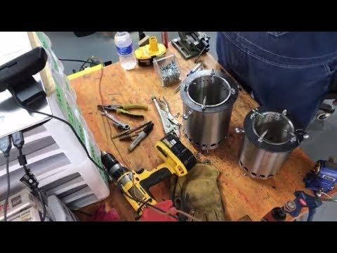 Live! How to build a wood gasifier  camp stove