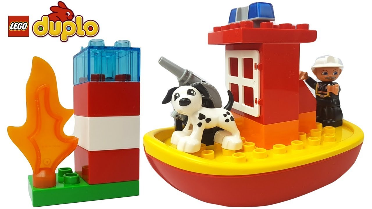 Lego Duplo Fire Boat 10591 Best Boats 2017 10593 Station Town Building Toy Unboxing Build Play