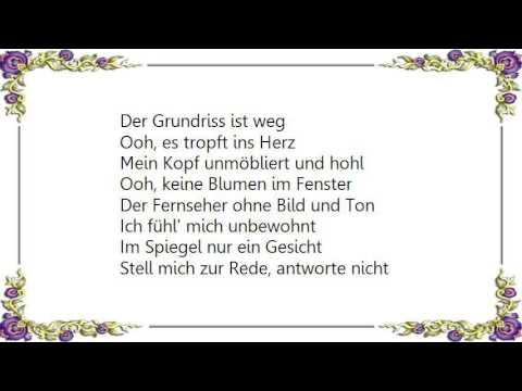 Herbert Grönemeyer - Unbewohnt Lyrics - Duur: 2:01.