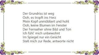 Herbert Grönemeyer - Unbewohnt Lyrics