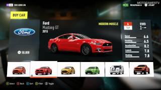 Forza Horizon 2 XOne All Cars From Autoshow 25 09 2014