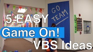 5 Easy Vbs Decorations For Lifeway's Game On! Vbs 2018