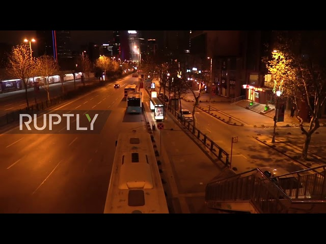 Turkey: Empty streets in Istanbul on New Year's Eve under curfew