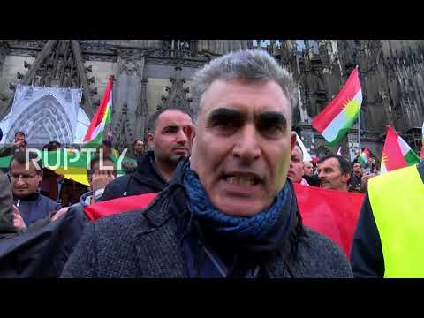 Germany: Thousands of Kurdish protesters rally against Iraqi seizure of Kirkuk