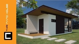 Repeat youtube video วีดีโอ แสดงการก่อสร้างบ้าน เคบิน นาโน 01 บ้านอิฐบล๊อค นาโน