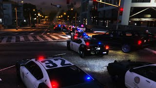 GTA 5 LSPDFR SP - 30 Backup Units, Helicopters Chasing Armored Car