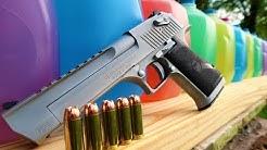 Desert Eagle 50AE - How Many Milk Jugs??? - 50 Cal Handgun
