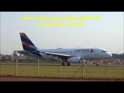 AIRBUS A319 -  BOEING 737 700 - CESSNA 150 - OPERAÇÕES AEROPORTO DE LONDRINA