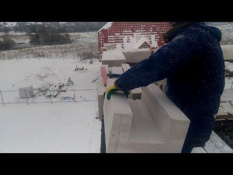 кладка пеноблоков зимой на клей