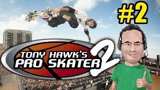 Jogatina de Tony Hawk Pro Skater 2 - Parte 2 - Hangar e Escola 100%!!
