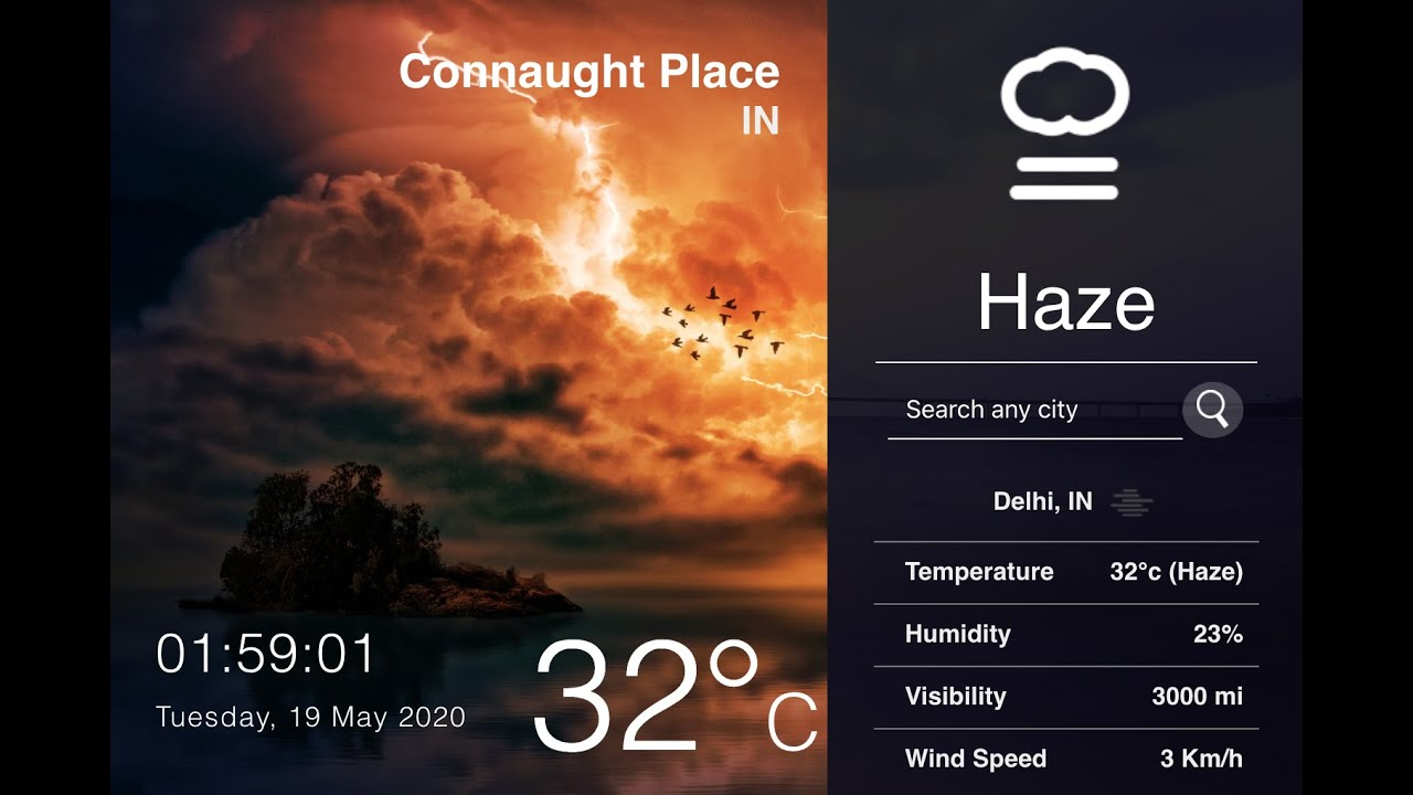Build A Weather App With Current Location Tracking Using React.js
