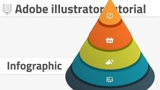 How to create 3d infographics in Adobe illustrator. Vector cone infographic tutorial