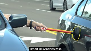 Sneaking Plungers onto People's Cars in Traffic